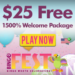 BingoFest.com $ 25 Ücretsiz Bonus
